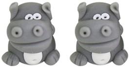Dress My Craft Miniature 2/Pkg-Hippo Figure - $8.97