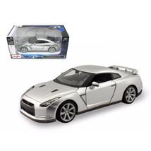 2009 Nissan GT-R R35 Silver 1/24 Diecast Model Car by Maisto 31294s - $28.33