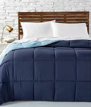 Martha Stewart QUEEN Comforter Down Alternative Reversible BLUE A03271 - $70.11