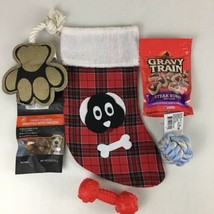 Dog Christmas Stocking Pet Stocking w/Treats and Toys Home Decor - $12.19
