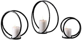 Uttermost Pina Aged Black 3-Piece Pillar Candle Holder Set - $165.00