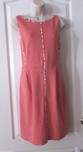 Apt. 9® Ponte Sleeveless Sheath Dress - Women's Coral  NWT Sz M  MSRP$60 - $26.00