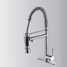 Contemporary Chrome Finish Pull Out Single Handle Kitchen Faucet - $247.45