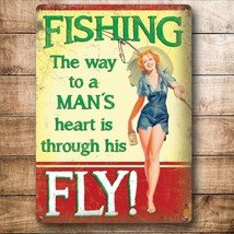 Fishing The Way to a Man's heart is through his Fly Fridge Magnet - $3.31
