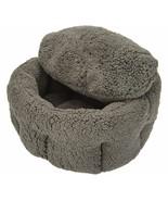 """Burrow Bud 23""""  x 25""""  Cozy Cuddle Pet Bed  Grey   BL5 - $67.89"""