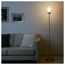 IKEA ÅTERSKEN Floor lamp, clear glass - $92.56