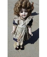 """Shirley Temple Doll 16"""" Bisque real hair and eyelashes old repro origina... - $57.00"""