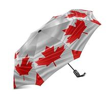InterestPrint Waving National Flag of Canada 100% Polyester Pongee Windproof Fab - $25.73