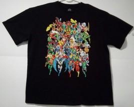 DC Comics Originals Heroes Characters Men 2XL Black 100% Cotton Graphic T-Shirt - $23.21