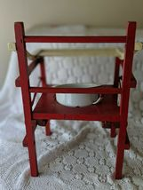 Wooden Red White Vintage Potty Chair With Chamber Pot Kids Baby image 3