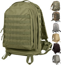 Large Tactical Backpack, Military 3-Day Assault Pack Bag MOLLE II Camo Knapsack - $56.99+