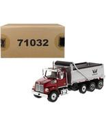 Western Star 4700 SF Dump Truck  Metallic Red with Silver Body 1/50 Diec... - $89.89