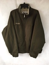 COLUMBIA Men's Olive Green Full Zip Casual Jacket Size XL - $28.04