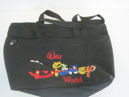 "Black Stitched Walt Disney Tote Bag 19"" x 14"" Mickey Pooh Tigger (OAR22-661) - $13.60"
