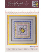 Pattern Play: Bee cross stitch chart AnnaLee Waite Designs  - $9.00