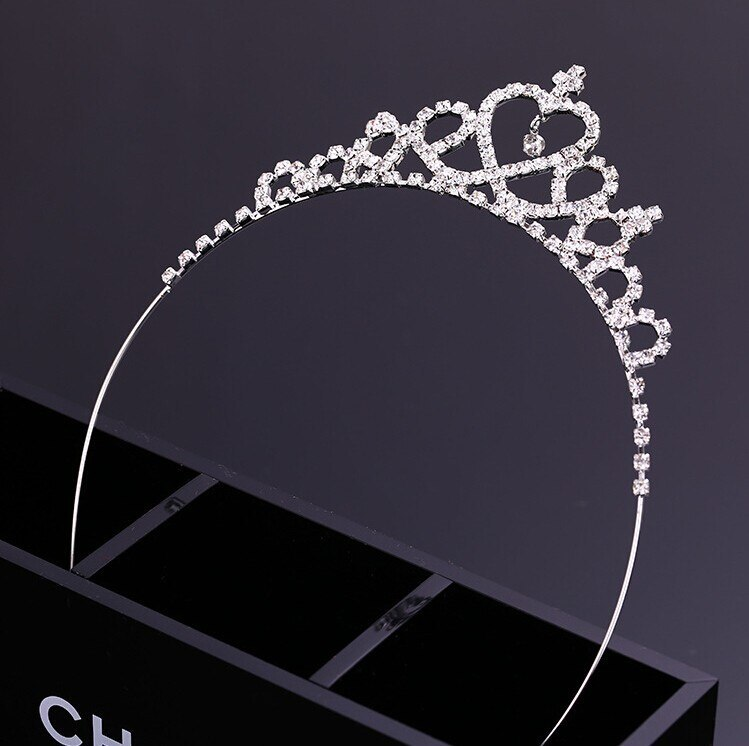 Primary image for Wedding Flower Girls Rhinestones Embellished Head Band Hair Band Princess Clear