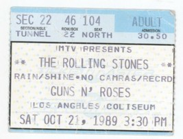 RARE The Rolling Stones & Guns n Roses 10/21/89 Los Angeles Concert Tick... - $15.99