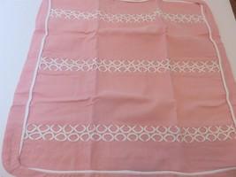 Tommy Hilfiger Florabundance Pink Circle Embroidery Euro Sham NIP - $29.05