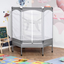 Indoor/Outdoor Kids Mini Trampoline Bouncer Jumper Safety Enclosure Net ... - $250.00