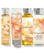 New Bath & Body Works Honeysuckle Mist, Cream, Gel, Lotion 4 Pc Set - $34.58
