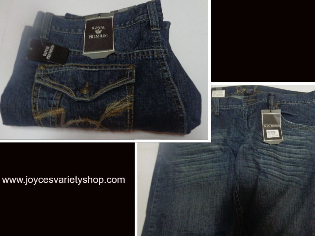 Royal premium mens blue  jeans web collage