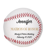 Matron of Honor Custom Baseball Wedding Gift - Personalized Wedding Favor - $34.95