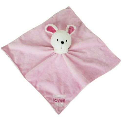 Carters Child Of Mine Pink Bunny Lovey Rabbit Security Blanket Rattle Soother - $21.38