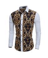 2016 Large Vintage Floral Prints Mens Dress Shirts Long sleeve Slim Fit ... - $47.72