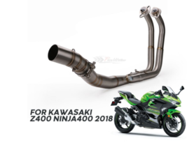 Motorcycle Exhaust  Systems Header Pipe Front Link Pipe For Kawasaki Nin... - $188.15