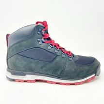 Timberland GT Scramble Mid Black Red Mens Waterproof Hiking Boots 9958R - $109.95