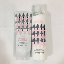 Avon Beautiful Collection Body Scrub And Body Lotion Set New - $16.99