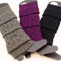 Women's Cable Knit Braided Leg Warmers Winter Boot Warmer Soft Knee Socks - $8.45