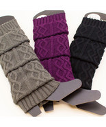 Women's Cable Knit Braided Leg Warmers Winter Boot Warmer Soft Knee Socks - €7,44 EUR