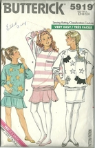 Butterick Sewing Pattern 5919 Girls Skirt Top Pullover Size 7 Used - $9.99