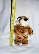"Manhattan Toy Tiger Plush Golden Brown Black Stripes Paw Pads 2009 9"" - $14.84"