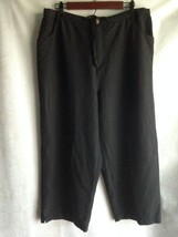 Island Traders Cropped Capri Pants Women's Size XXL Black Vacation Resor... - $9.33