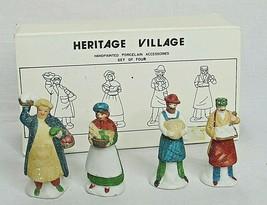 Dept 56 Heritage Village Shopkeepers People Accessories 5966-8 Set of 4 ... - $24.75