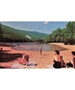 PICTURE POSTCARD- BEACH AT SHERONDO LAKE, SHENANDOAH VALLEY, VIRGINIA   ... - $1.96