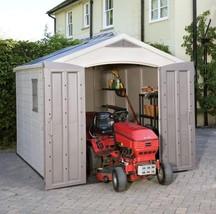 Large Factor Storage Shed Resin Stylish Yard Garden Durable Sturdy Extra... - $1,665.05