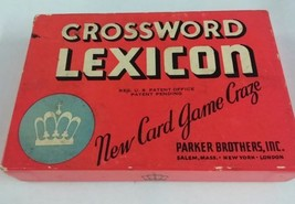 Vintage 1937 Crossword Lexicon Card Game Parker Brothers Complete - $14.95