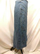 Vtg RT JEANS CO Denim Skirt Long Modest Sz 34 Fits Small Medium Blue Jean Maxi image 8
