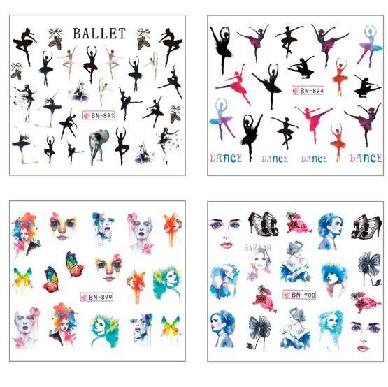 HS Store - 12 pcs/set BN853-864 Nail Art Sticker Retro Styles for Nail Polish image 4