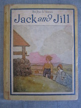 Mother Goose Rhymes Jack & Jill Bye-lo series Vintage Children's Book 1920  - $17.92