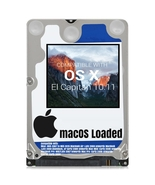 macOS Mac OS X 10.11 El Capitan Preloaded on Sata HDD - $12.99+