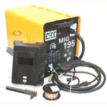 MIG 195 Amp MAG 220v Welder Flux Stainless Aluminum Welding Machine Gas/... - $247.49