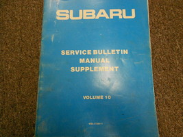 1987 Subaru Service Bulletins Service Repair Shop Manual FACTORY OEM BOOK 87 - $13.83