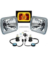 7X6 Plasma Amber COB Halo Glass/Metal Headlight 40W LED Light Bulb Headl... - $174.95