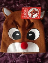 Rudolph The Red Nosed Reindeer Hat Rare Brand New w Tags  - $14.99