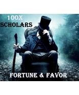 100X 7 SCHOLARS FORTUNE FAVOR OF THE GODS GRATIA FORTUNUM MASTER HIGH MA... - $99.77