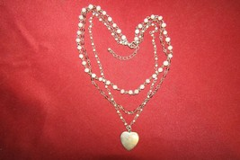 Vtg. American Eagle Outfitters layered silver heart choker necklace - $8.55